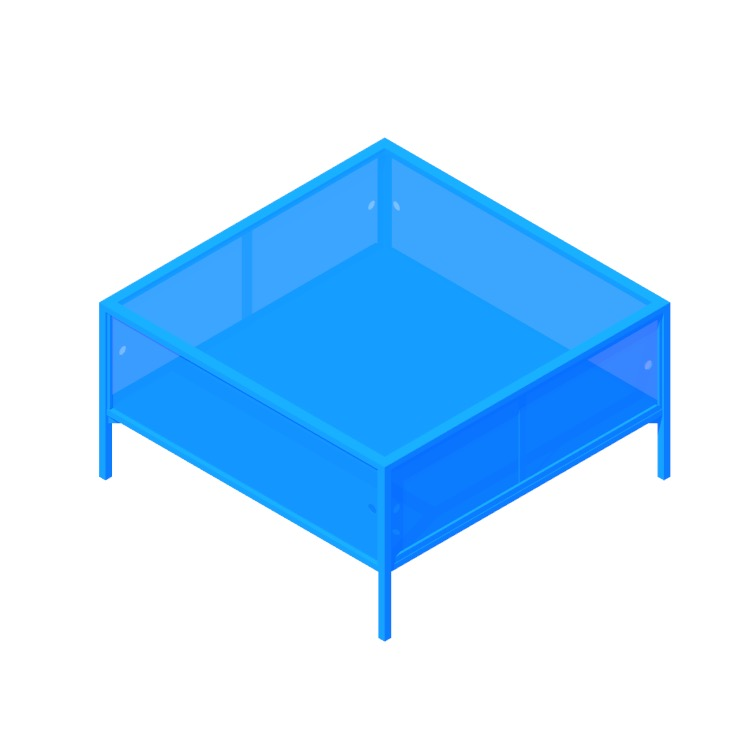 3D model of the IKEA Sammanhang Coffee Table viewed in perspective
