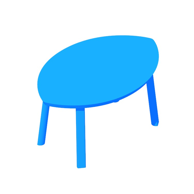View of the IKEA Stockholm Nesting Tables in 3D available for download