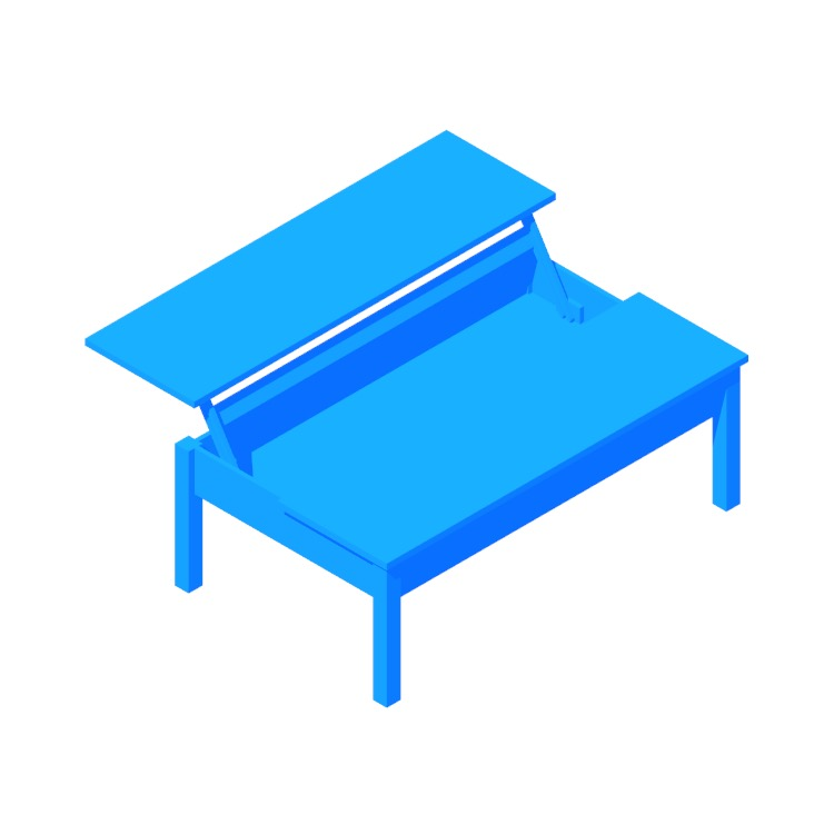 3D model of the IKEA Trulstorp Coffee Table viewed in perspective