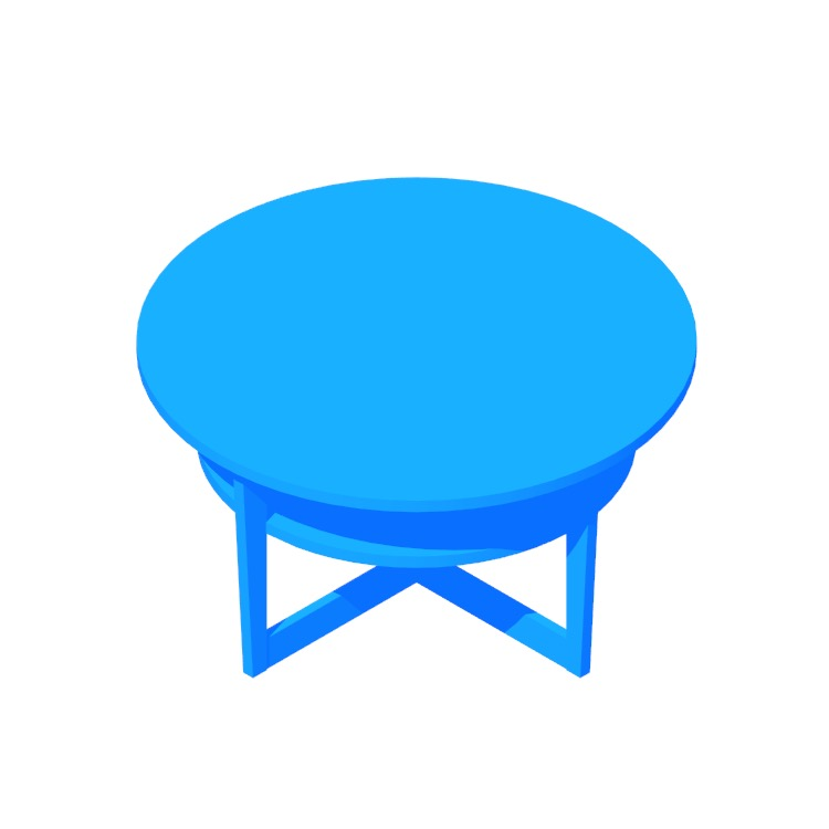 View of the IKEA Vejmon Coffee Table in 3D available for download