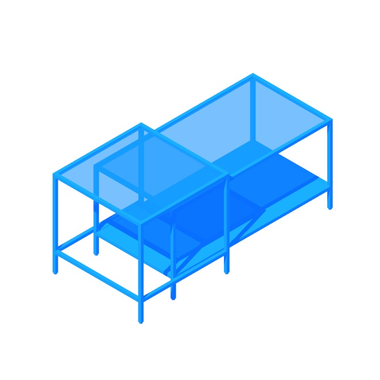 3D model of the IKEA Vittsjö Nesting Tables viewed in perspective