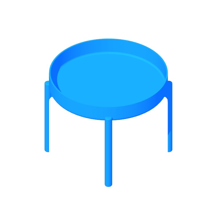 View of the IKEA Ypperlig Coffee Table in 3D available for download