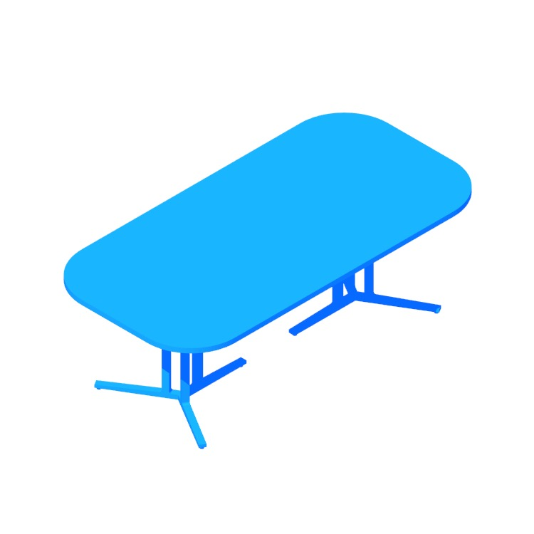 3D model of the Everywhere Conference Table viewed in perspective