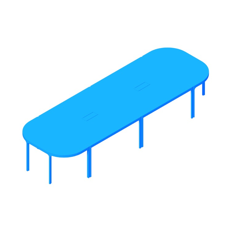 View of the IKEA Bekant Conference Table (4 Piece) in 3D available for download