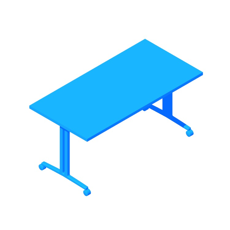 View of the Everywhere Table Flip-Top in 3D available for download