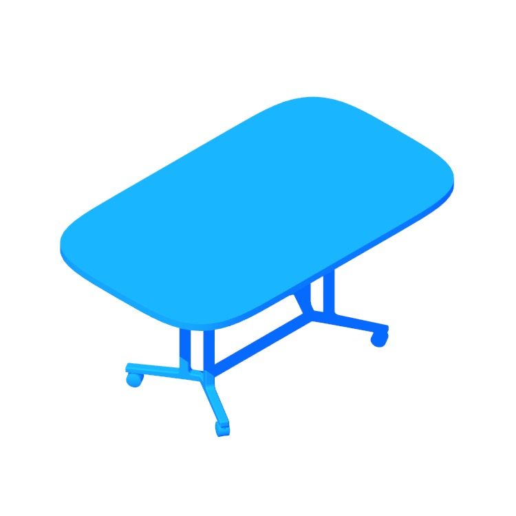 View of the Everywhere Table Oval (Spanner) in 3D available for download