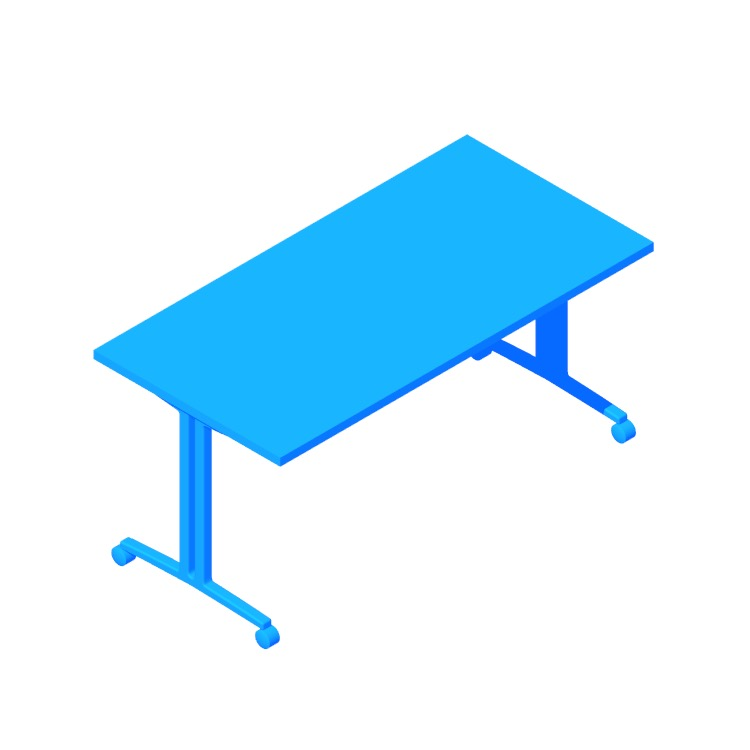 View of the Everywhere Table Rectangular (T-Leg) in 3D available for download