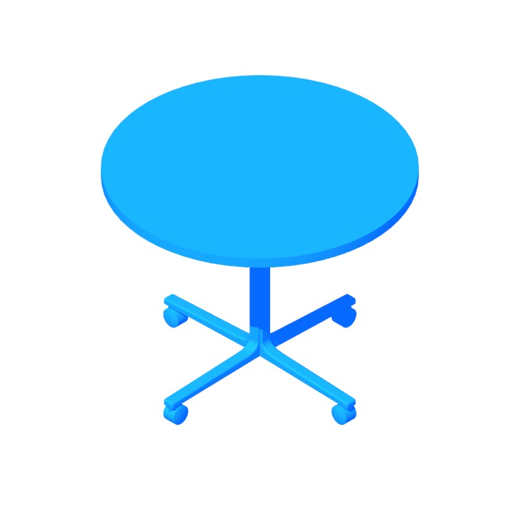 View of the Everywhere Table Round (Single Column) in 3D available for download
