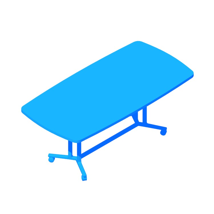 View of the Everywhere Table Soft Rectangular (Spanner) in 3D available for download