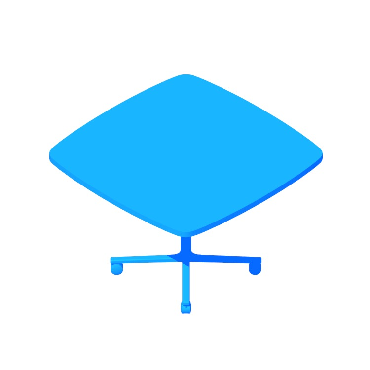 View of the Everywhere Table Soft Square (Single Column) in 3D available for download