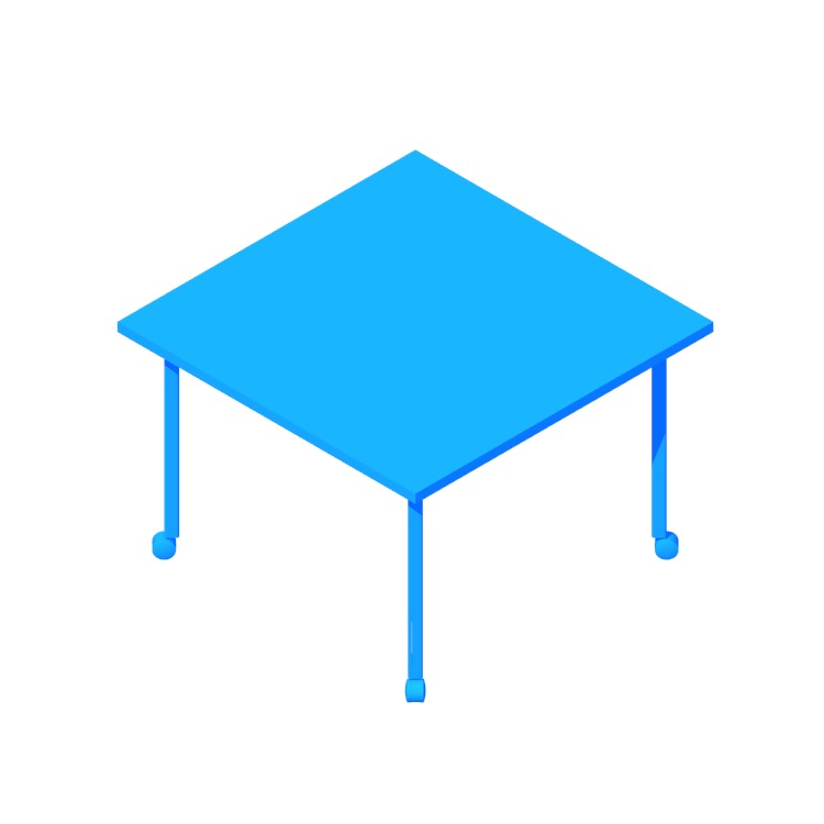 3D model of the Everywhere Table Square (Post Leg) viewed in perspective