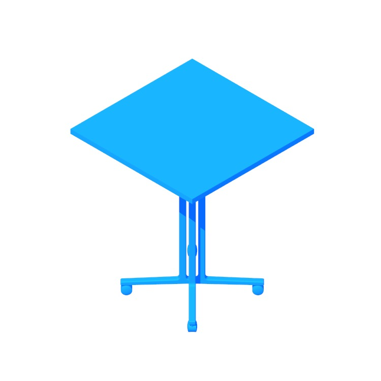 Perspective view of a 3D model of the Everywhere Table Square (Standing Height)
