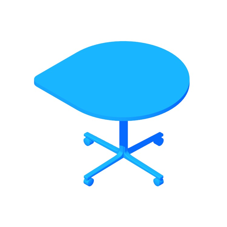 3D model of the Everywhere Table Teardrop viewed in perspective