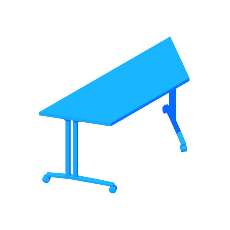 View of the Everywhere Table Trapezoid (C-Leg) in 3D available for download