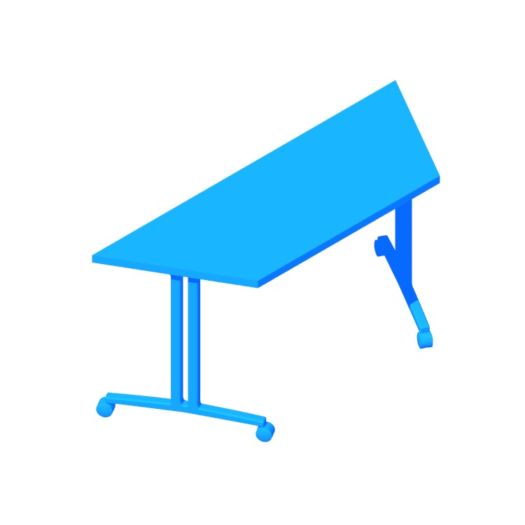 3D model of the Everywhere Table Trapezoid (T-Leg) viewed in perspective