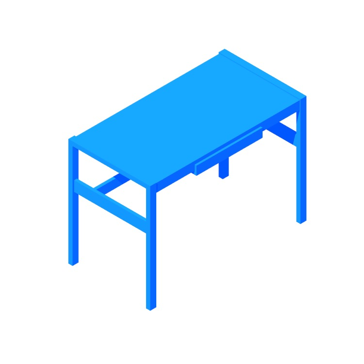 3D model of the Risom Desk viewed in perspective