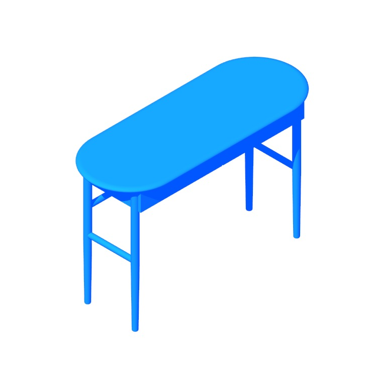 3D model of the Valis Desk viewed in perspective