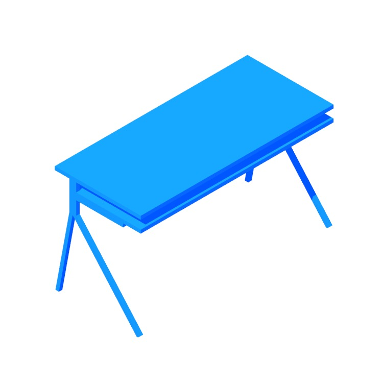 3D model of the Desk 51 viewed in perspective