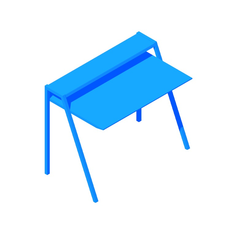 Perspective view of a 3D model of the Cant Desk
