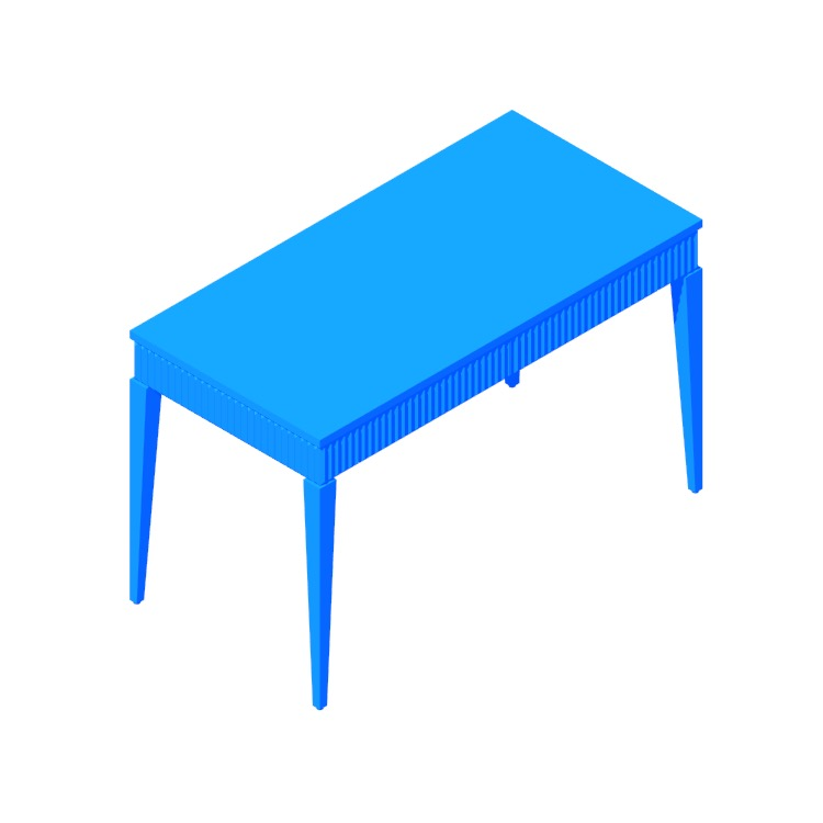 3D model of the Cape Desk viewed in perspective