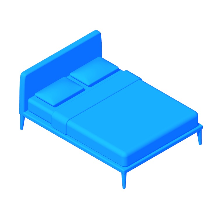 Perspective view of a 3D model of the Vella Bed