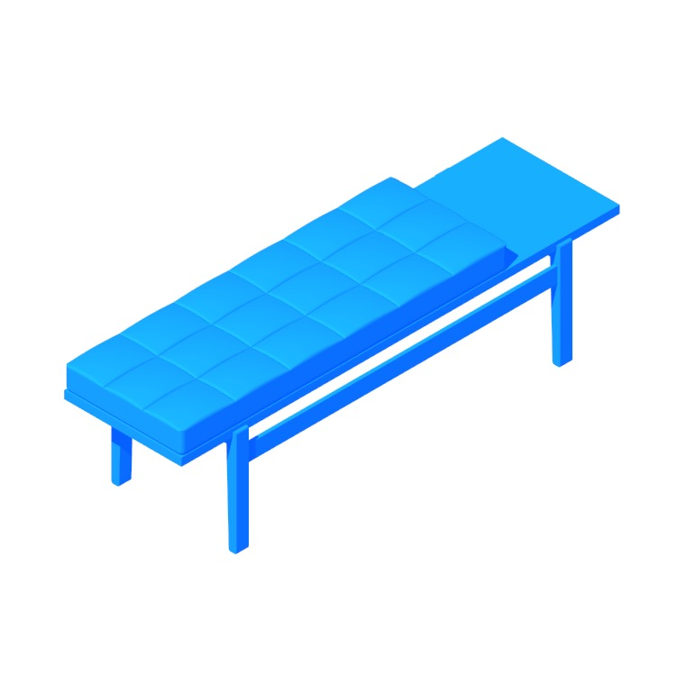 3D model of the Jens Bench viewed in perspective