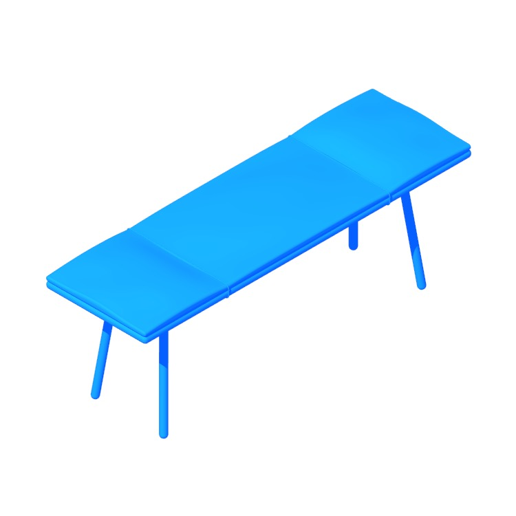View of the Georg Bench in 3D available for download