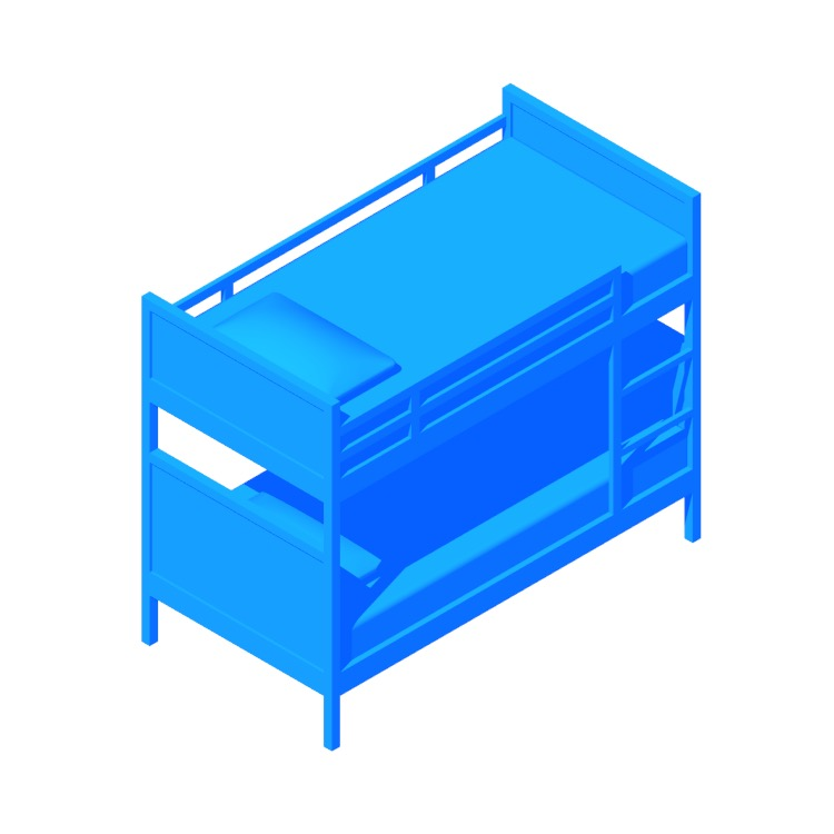 View of the IKEA Norddal Bunk Bed in 3D available for download