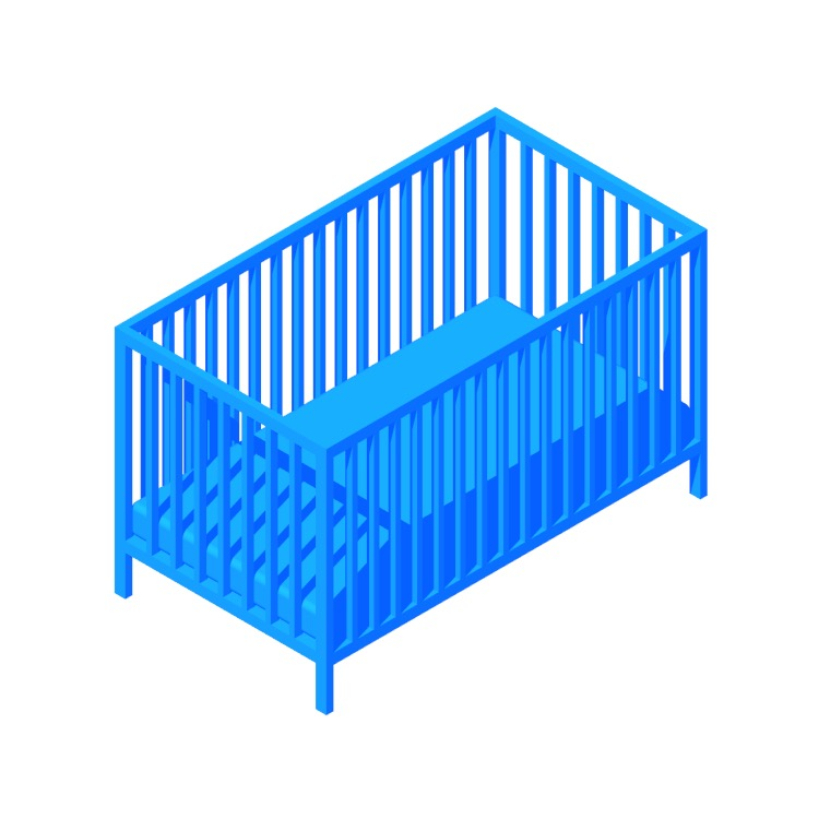 View of the IKEA Gulliver Crib in 3D available for download