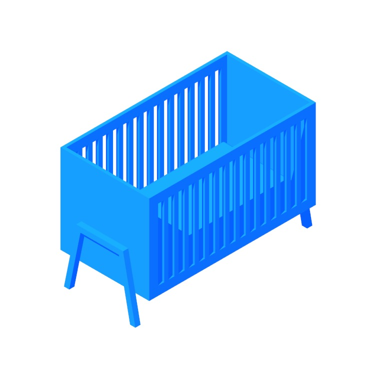 3D model of the Chisley Crib viewed in perspective