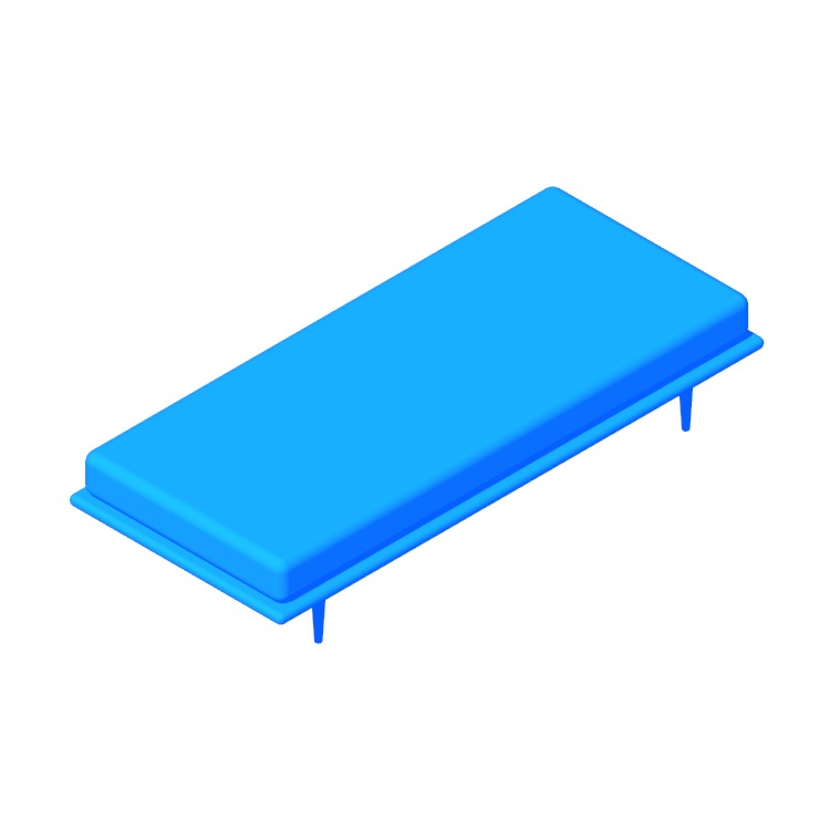 3D model of the Nelson Daybed viewed in perspective
