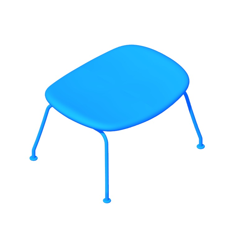 View of the Wing Oculus Ottoman in 3D available for download