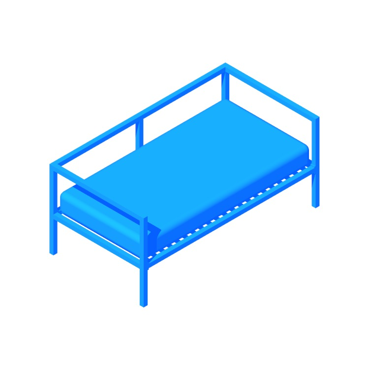 View of the Hogans Twin Daybed in 3D available for download