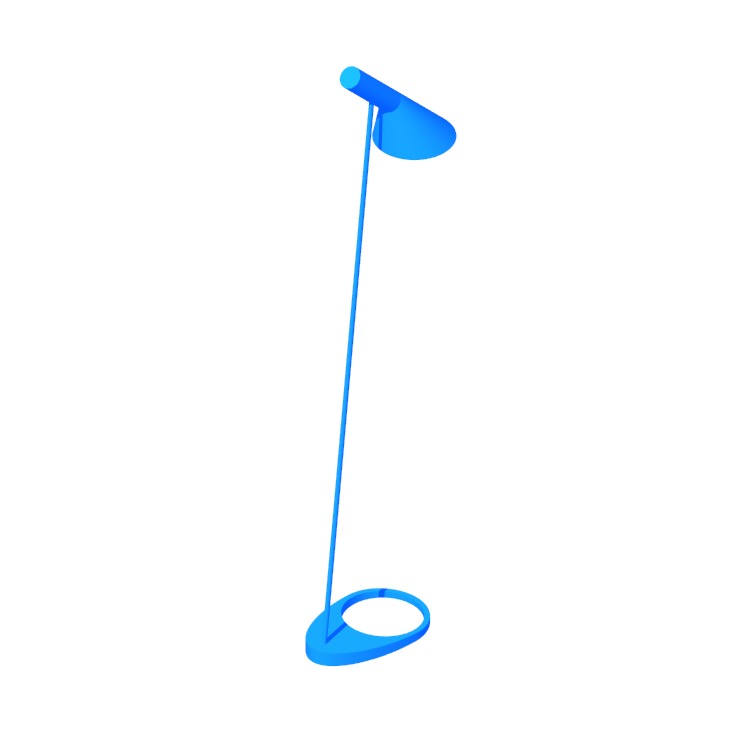 3D model of the AJ Floor Lamp viewed in perspective