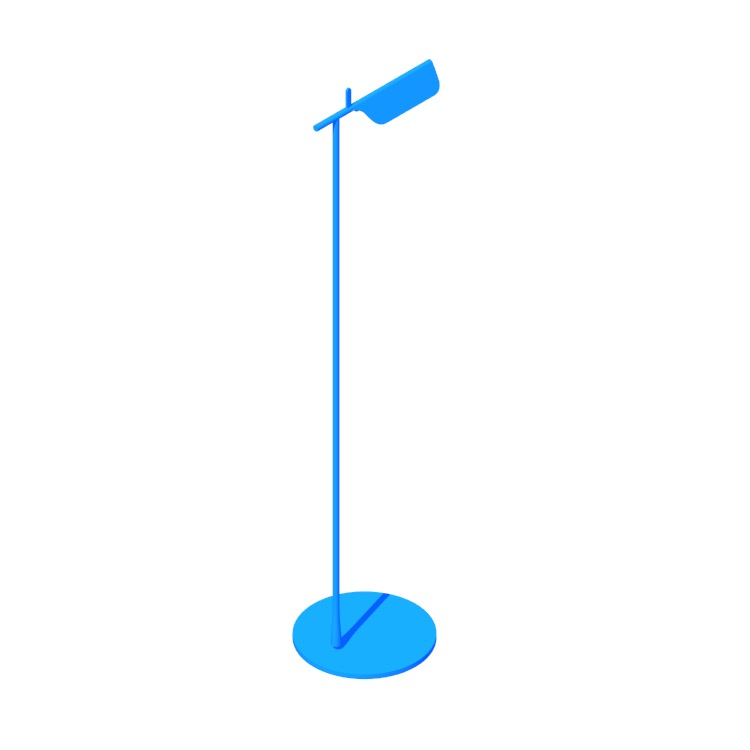 Perspective view of a 3D model of the Tab Floor Lamp