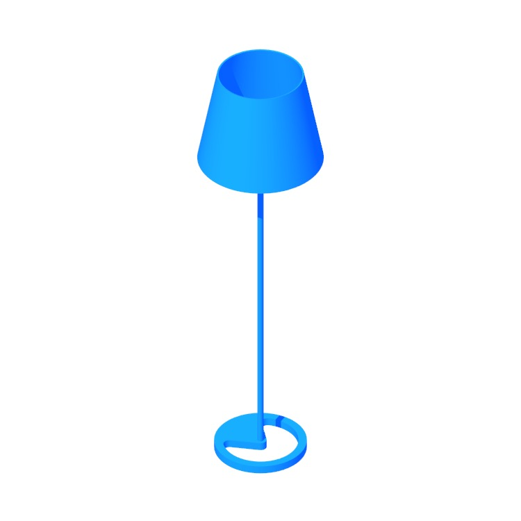 Perspective view of a 3D model of the IKEA Nyfors Floor Lamp