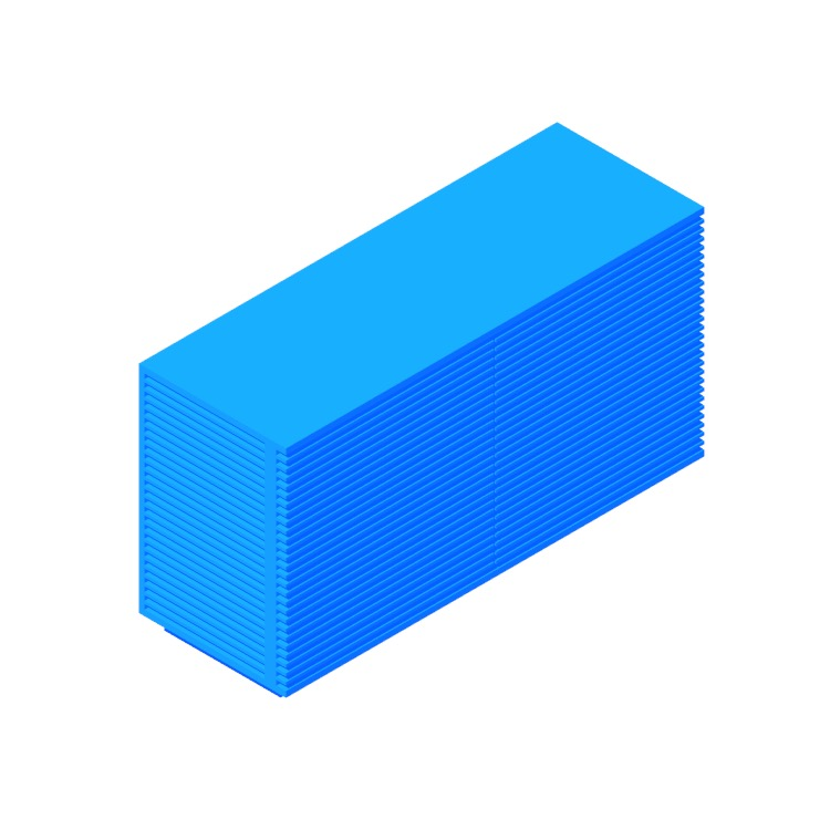 3D model of the Line Credenza (Small) viewed in perspective