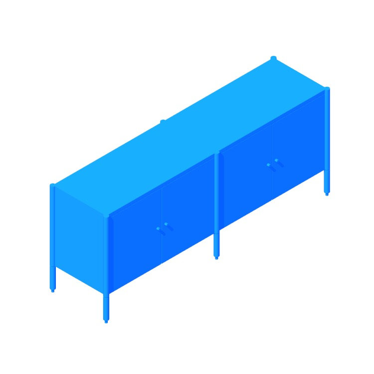 Perspective view of a 3D model of the Morrison Credenza
