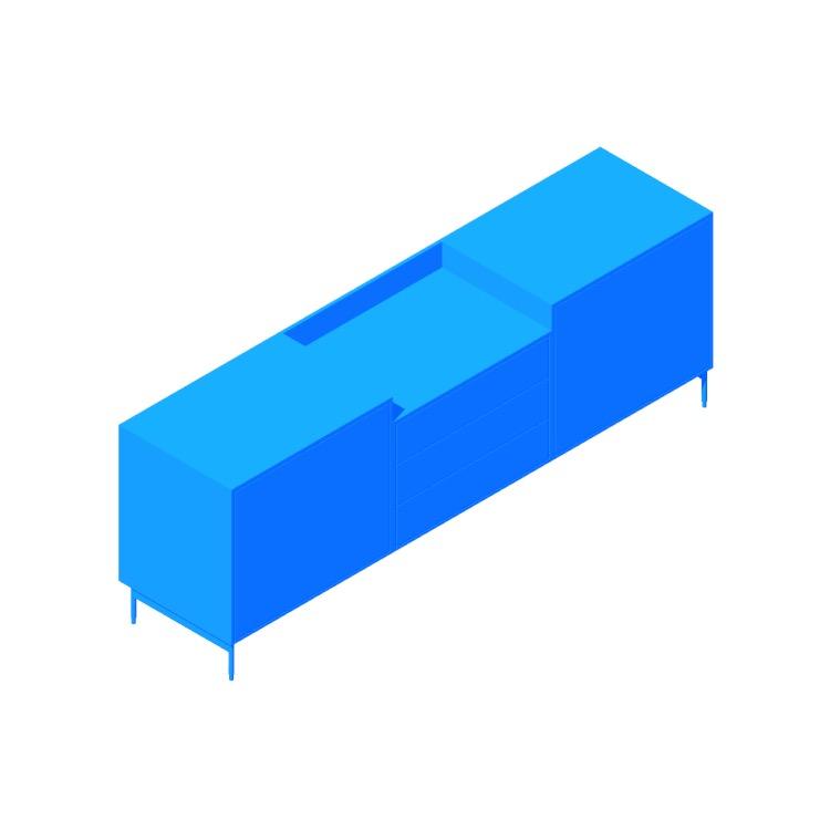3D model of the Sen Credenza viewed in perspective