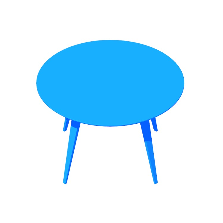 View of the Cherner Round Tables in 3D available for download