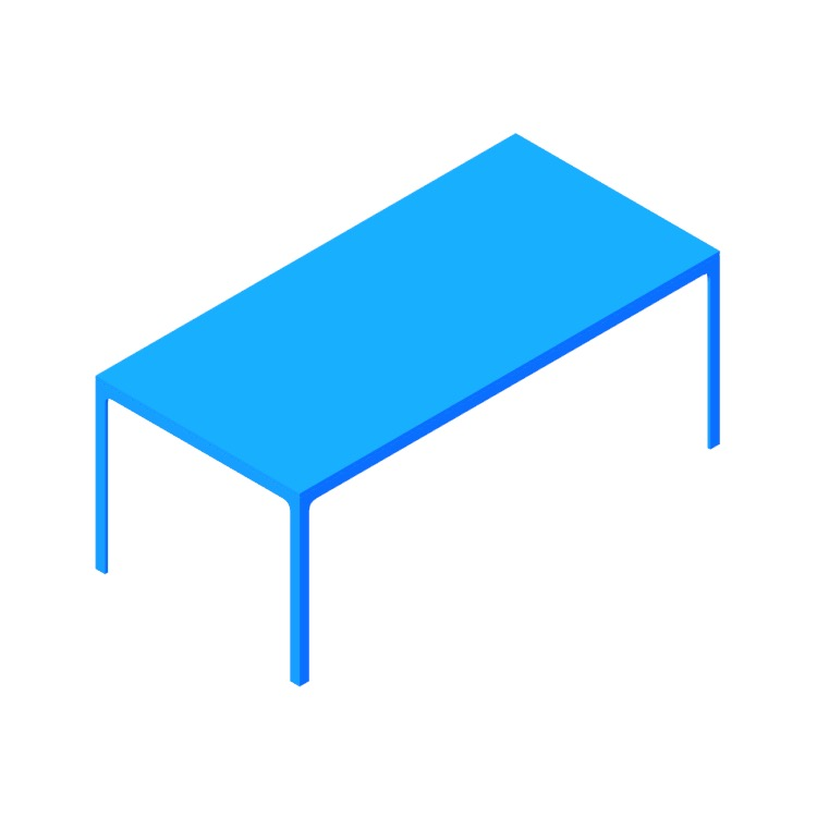 Perspective view of a 3D model of the Min Table