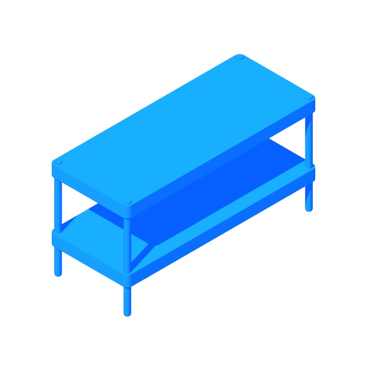 View of the IKEA Mackapär Shoe Rack in 3D available for download