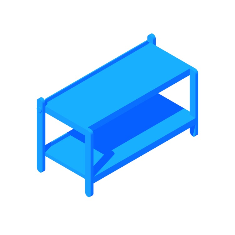 3D model of the Sko Shoe Rack viewed in perspective