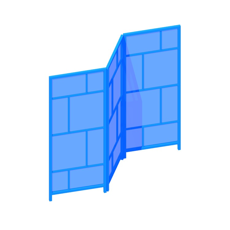 Perspective view of a 3D model of the IKEA Risör Room Divider