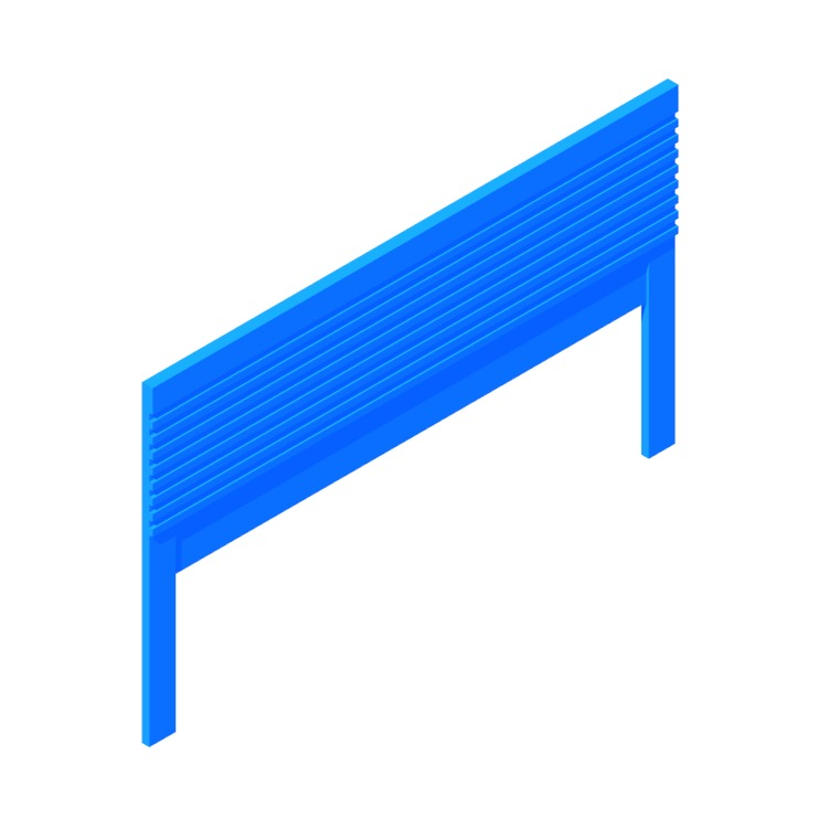 Perspective view of a 3D model of the IKEA Mathopen Headboard