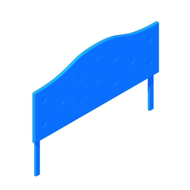 View of the IKEA Korshamn Headboard in 3D available for download