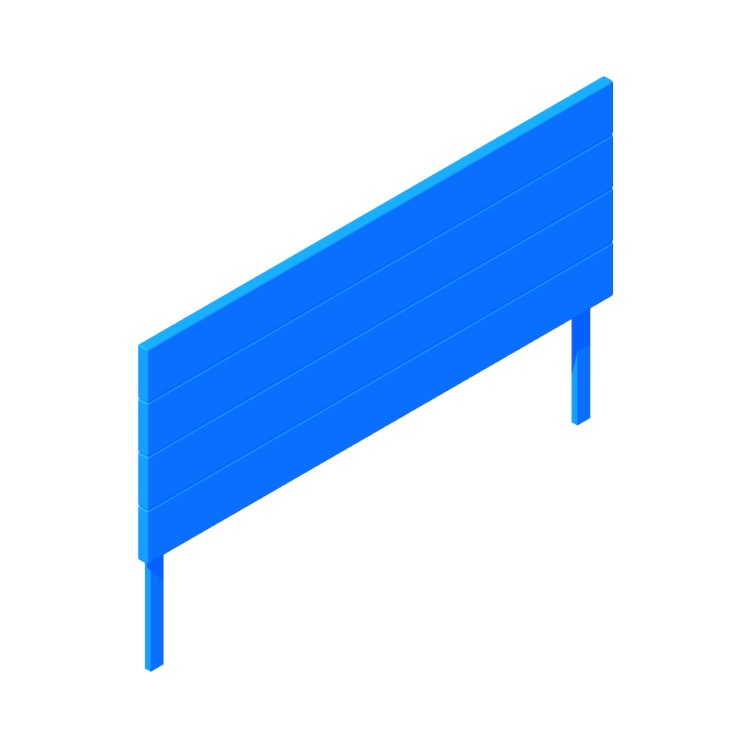 3D model of the IKEA Eidsberg Headboard viewed in perspective