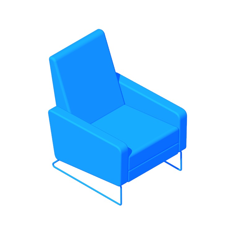 3D model of the Flight Recliner viewed in perspective