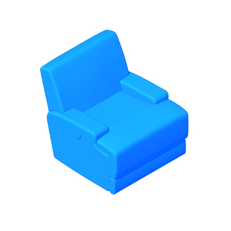 View of the IKEA Vännäs Reclining Armchair in 3D available for download