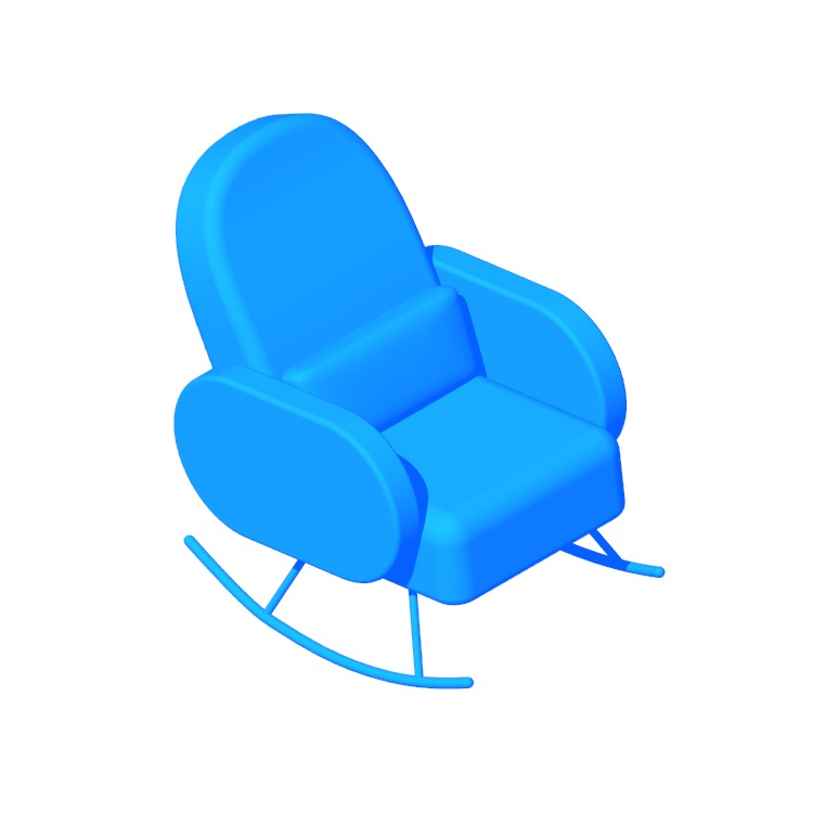 View of the Compass Rocking Chair in 3D available for download